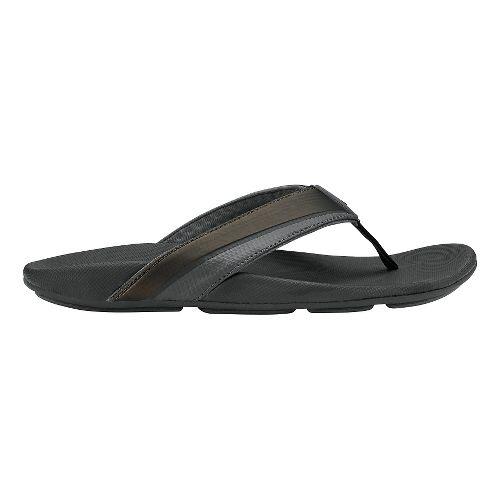 Mens Olukai Halu'a Sandals Shoe - Black/Black 11