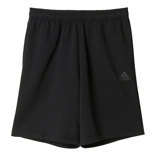 Mens Adidas Essential Cotton Fleece Lined Shorts - Black/Solid Grey S