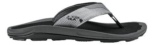 Mens Olukai Makolea Sandals Shoe - Dark Shadow/Black 10