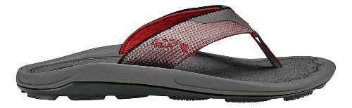 Mens Olukai Makolea Sandals Shoe - Charcoal/Charcoal 11
