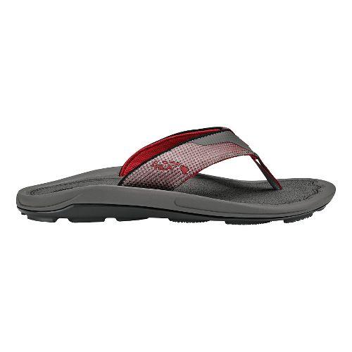 Mens Olukai Makolea Sandals Shoe - Charcoal/Charcoal 13