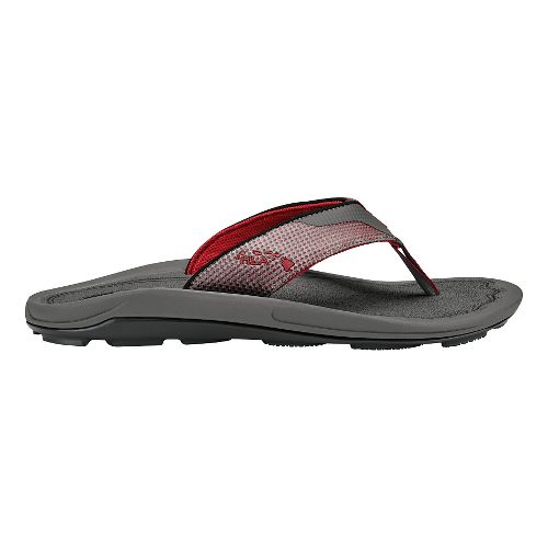 Mens Olukai Makolea Sandals Shoe - Charcoal/Charcoal 14