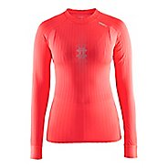 Womens Craft Active Extreme 2.0 Crewneck Long Sleeve Technical Tops - Shock/Silver XS