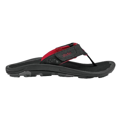 Mens Olukai Pa'a Sandals Shoe - Black/HLA 12