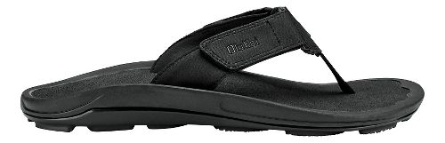 Mens Olukai Pa'a Sandals Shoe - Black/Dark Shadow 11