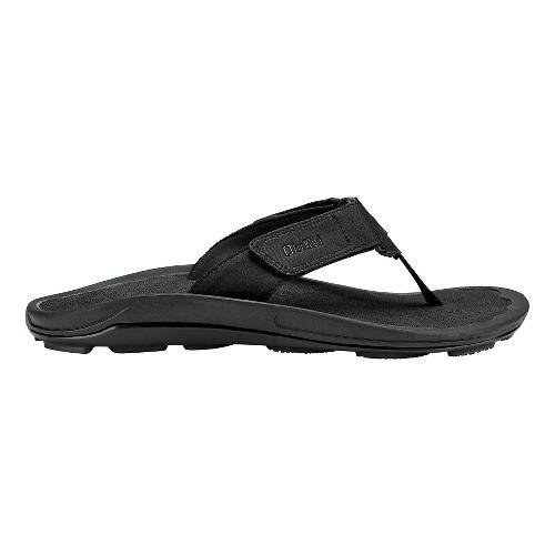 Mens Olukai Pa'a Sandals Shoe - Black/Dark Shadow 7