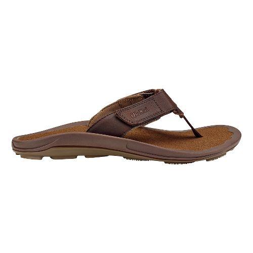 Mens Olukai Pa'a Sandals Shoe - Dark Java/Ray 10