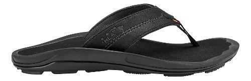 Mens Olukai Kipi Sandals Shoe - Black/Black 11