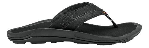 Mens Olukai Kipi Sandals Shoe - Black/Black 12