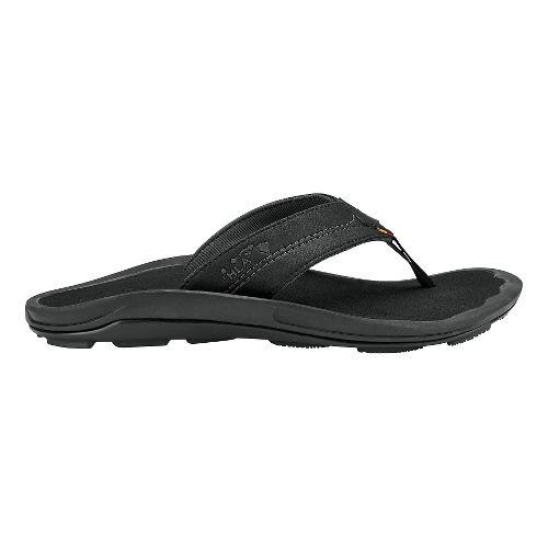 Mens Olukai Kipi Sandals Shoe - Black/Black 13