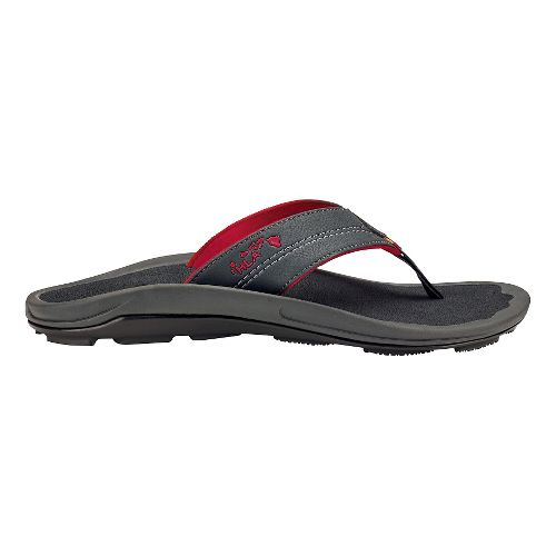 Mens Olukai Kipi Sandals Shoe - Dark Shadow 14