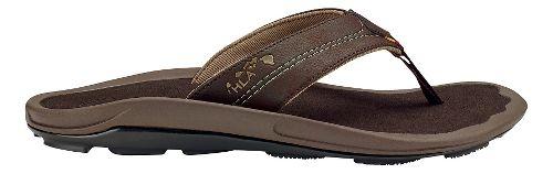 Mens Olukai Kipi Sandals Shoe - Dark Wood/Dark Wood 11
