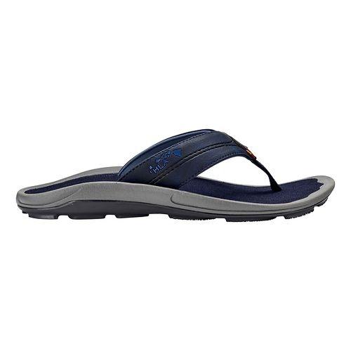 Mens OluKai Kipi Sandals Shoe - Trench Blue 15