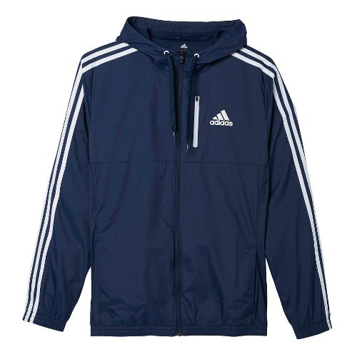 Mens Adidas Essential Woven Casual Jackets - Navy/White 3XL