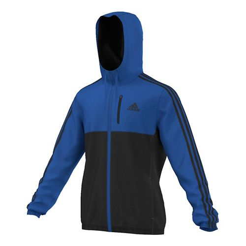 Mens Adidas Essential Woven Casual Jackets - Blue/Black 2XL