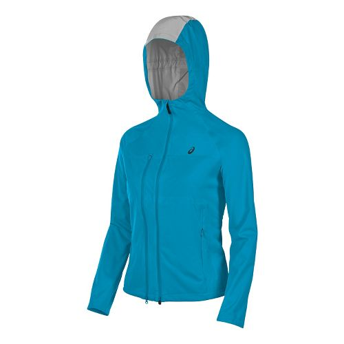Womens ASICS Accelerate Running Jackets - Diva Blue XL