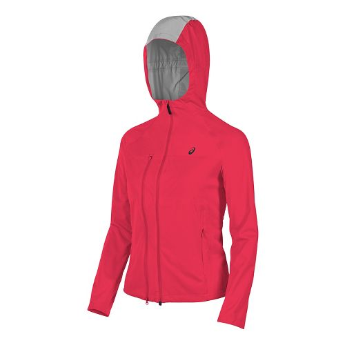 Womens ASICS Accelerate Running Jackets - Diva Pink M