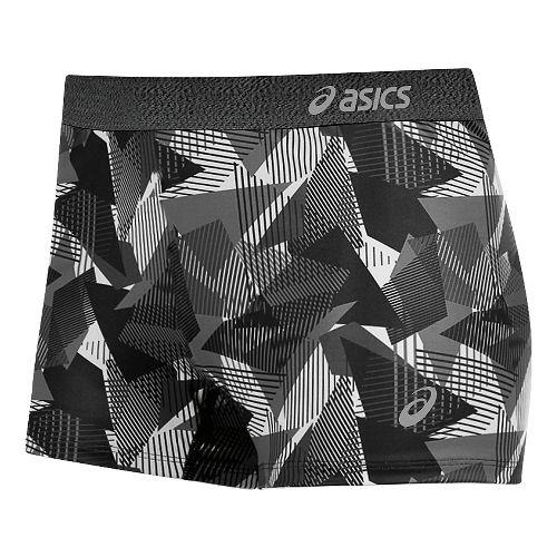 Womens ASICS Team Unlined Shorts - Steel Grey/Black L