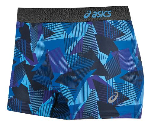 Womens ASICS Team Unlined Shorts - Purple/Black L