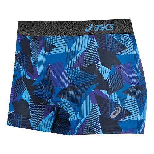 Womens ASICS Team Unlined Shorts - Purple/Black XXS