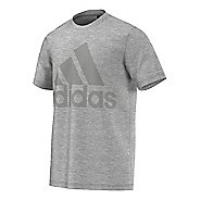 Mens Adidas Basic Logo Tee Short Sleeve Technical Tops