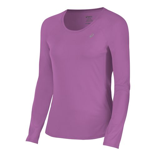 Womens ASICS ASX Dry Long Sleeve Technical Tops - Orchid L