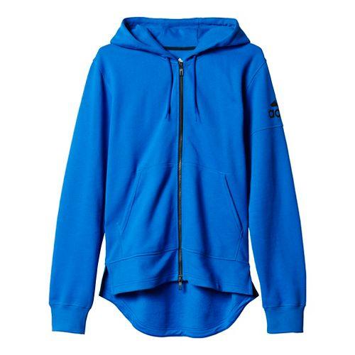 Mens Adidas Postgame Full-Zip Hoodie Casual Jackets - Blue/Black XL