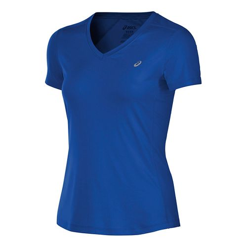 Womens ASICS ASX Dry Short Sleeve Technical Tops - New Blue XL