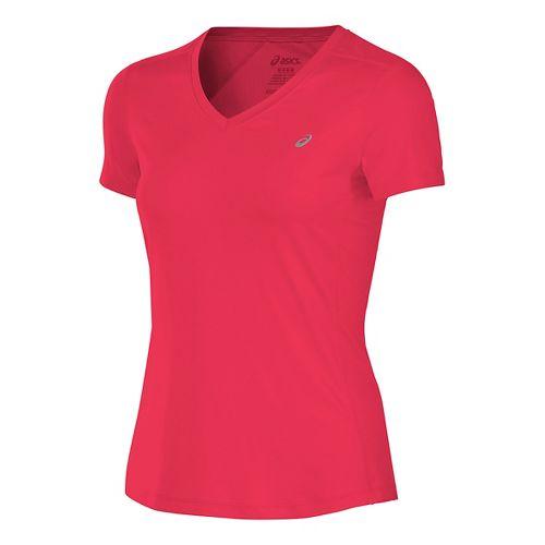 Womens ASICS ASX Dry Short Sleeve Technical Tops - Diva Pink XL