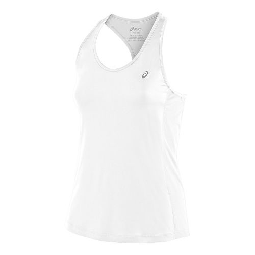 Womens ASICS ASX Dry Sleeveless & Tank Tops Technical Tops - White M
