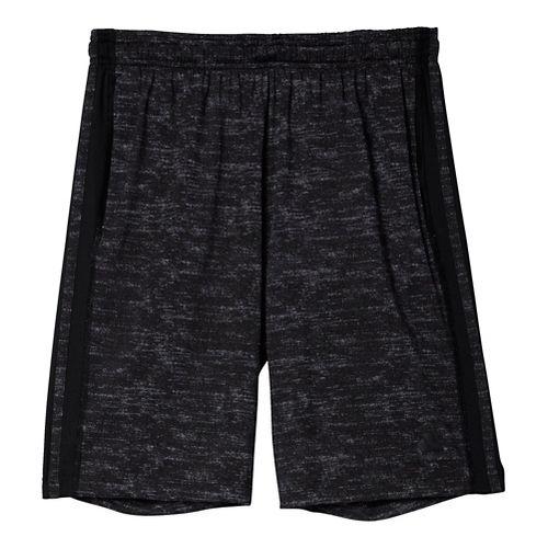 Mens Adidas Team Issue 3-Stripe Heathered Unlined Shorts - Black Heather L