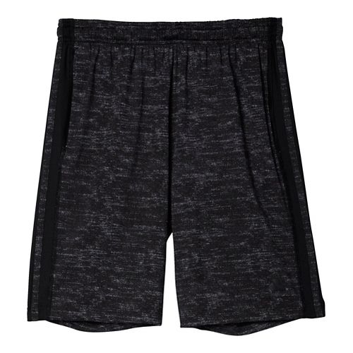 Mens Adidas Team Issue 3-Stripe Heathered Unlined Shorts - Black Heather M