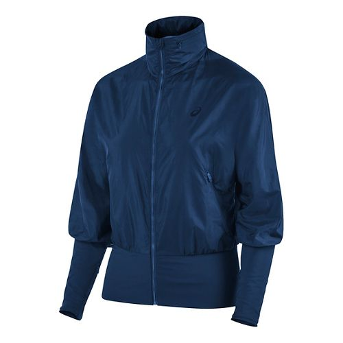 Womens ASICS Athlete GPX Casual Jackets - Indigo Blue L