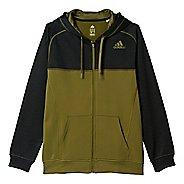 Mens Adidas Team Issue Fleece Full-Zip Hoodie Casual Jackets