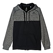 Mens Adidas Team Issue Fleece Full-Zip Hoodie Casual Jackets