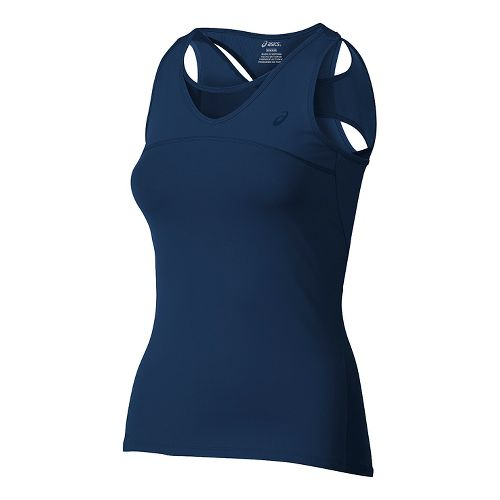 Womens ASICS Athlete Sleeveless & Tank Tops Technical Tops - Indigo Blue M