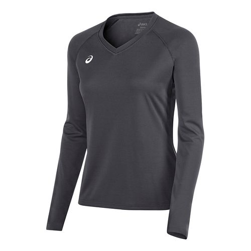 Womens ASICS Circuit 8 Warm-Up Long Sleeve Technical Tops - Steel Grey S