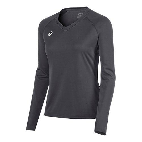 Womens ASICS Circuit 8 Warm-Up Long Sleeve Technical Tops - Steel Grey XL