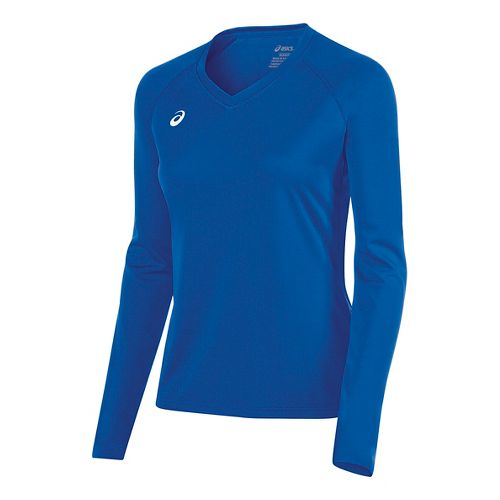 Womens ASICS Circuit 8 Warm-Up Long Sleeve Technical Tops - Royal L
