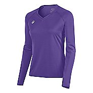Womens ASICS Circuit 8 Warm-Up Long Sleeve Technical Tops - Purple XXL