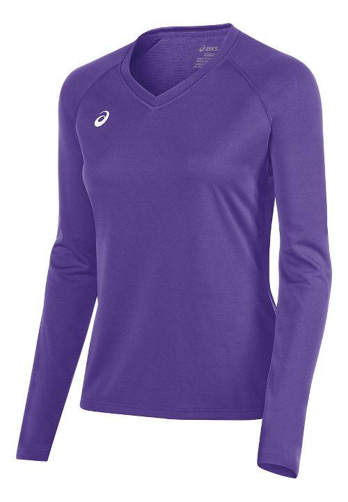 Womens ASICS Circuit 8 Warm-Up Long Sleeve Technical Tops - Purple XL