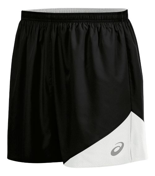 Mens ASICS Gunlap Lined Shorts - Black/White L