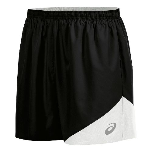 Mens ASICS Gunlap Lined Shorts - Black/White 3XL