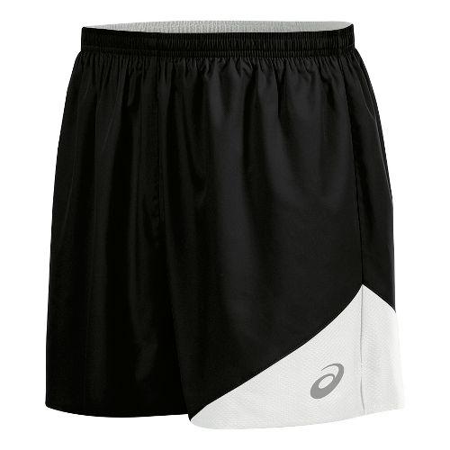 Mens ASICS Gunlap Lined Shorts - Black/White M