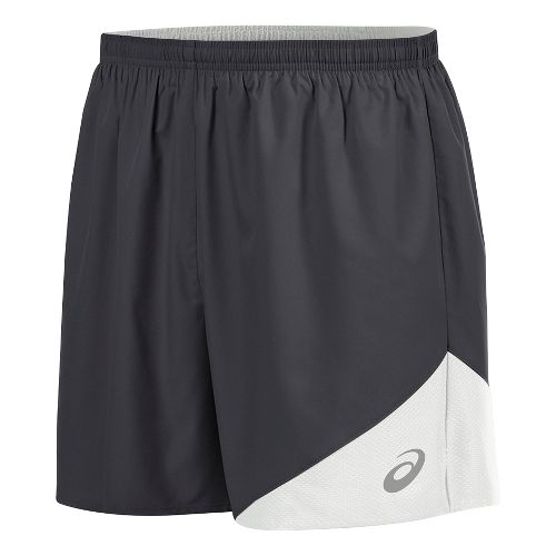 Mens ASICS Gunlap Lined Shorts - Steel Grey/White L