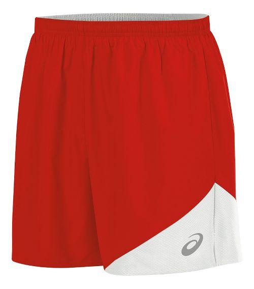 Mens ASICS Gunlap Lined Shorts - Red/White S
