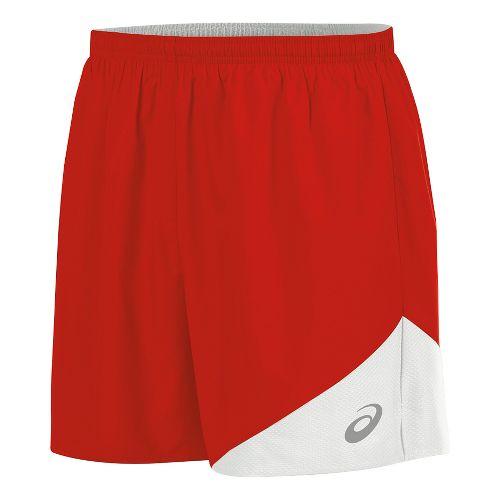Mens ASICS Gunlap Lined Shorts - Red/White M