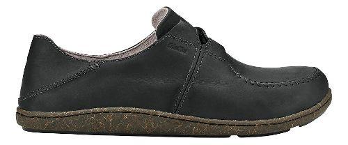 Mens Olukai Honua Leather Casual Shoe - Black/Black 9