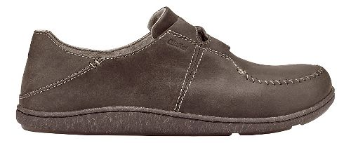 Mens Olukai Honua Leather Casual Shoe - Dark Wood/Dark Wood 10.5