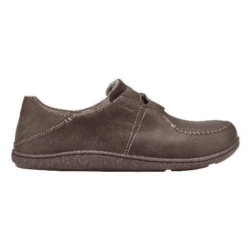 Mens Olukai Honua Leather Casual Shoe - Dark Wood/Dark Wood 8.5
